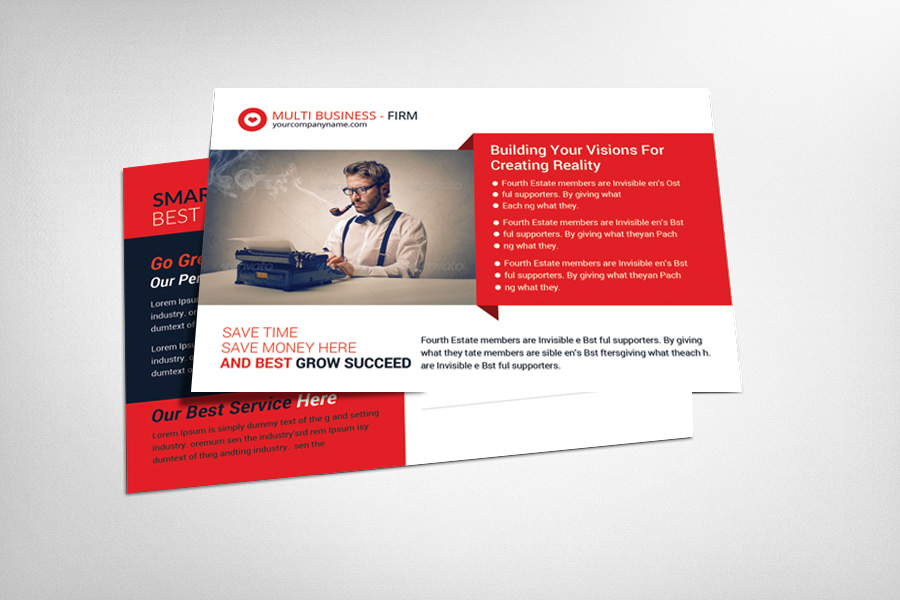 Business Postcard Template We Design And Print
